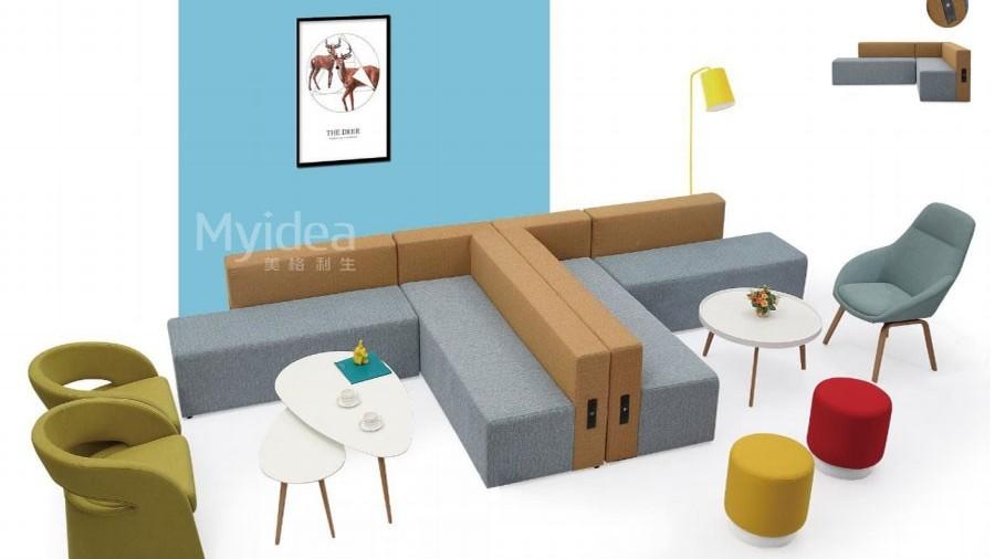 接待区休闲沙发-布艺沙发