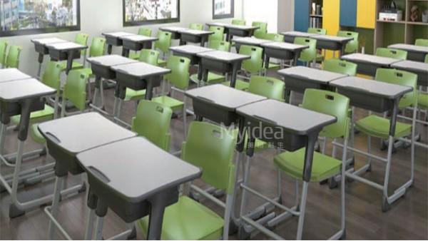 可升降调节课桌椅-中小学生单人课桌