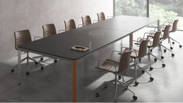 北欧会议桌简约复古办公桌简约工作台