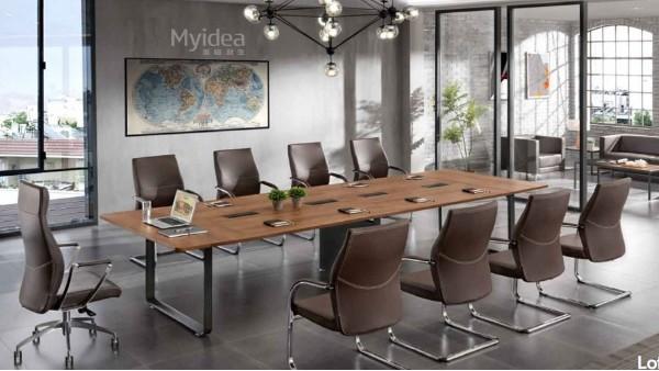 佛山会议桌-长条桌员工培训桌