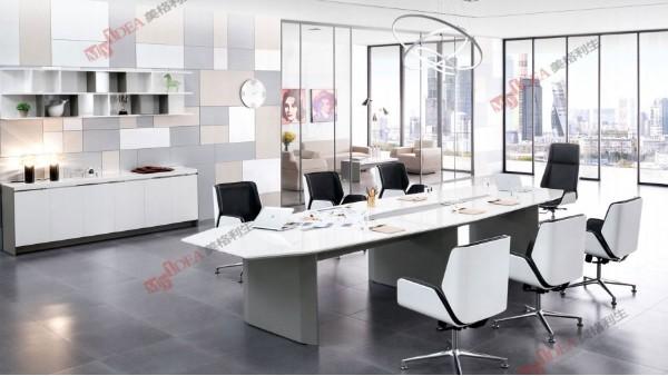 白色烤漆会议桌北欧长桌