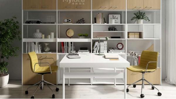 简约现代办公卡位-职员办公室桌椅组合