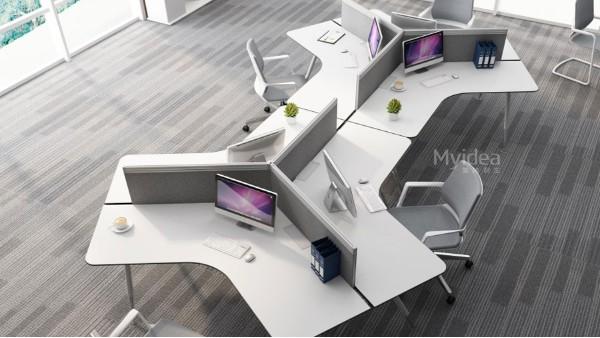 现代职员办公桌椅组合-多人员工位