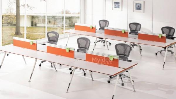 职员办公桌-简约现代4人位6四人办公工作位