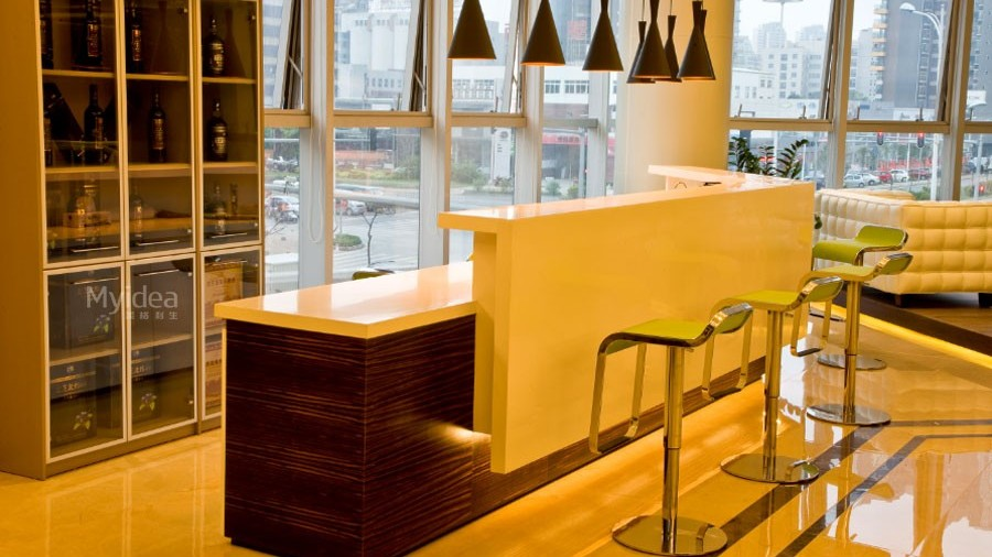 吧台收银台-商用小型迎宾前台接待台