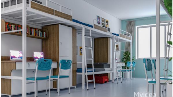 学校宿舍多功能书柜组合床