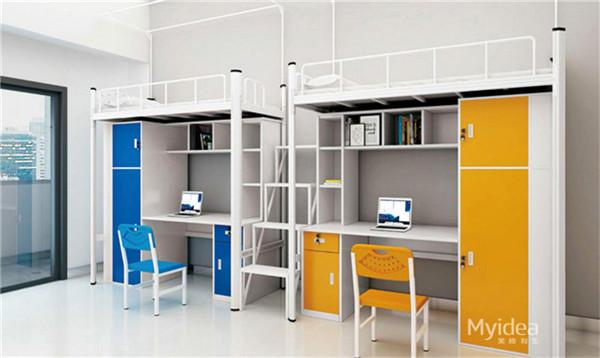 学校公寓多功能床带电脑桌
