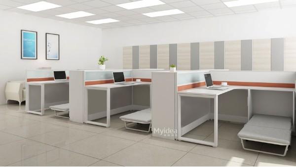 学校带床多功能办公桌