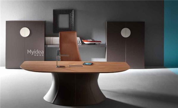 油漆班台现代总裁桌椅组合