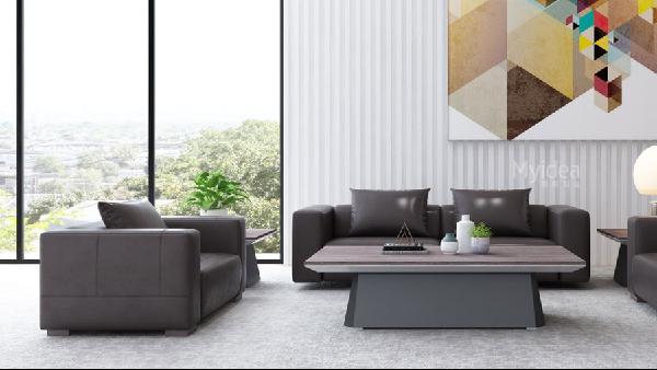 商务沙发-黑色老板沙发