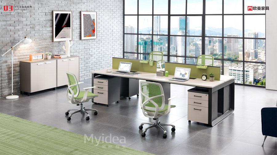 佛山职员桌-定制员工办公桌