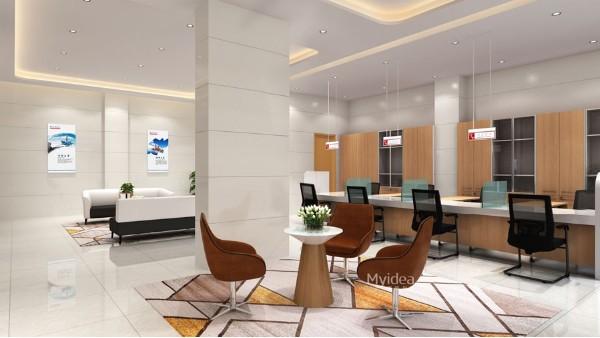 银行接待室现代办公桌定制